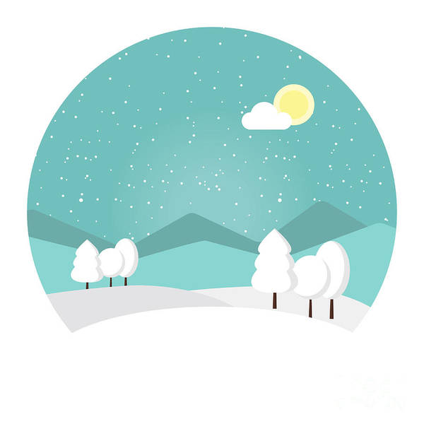 Winter Landscape. Snowy Mountain Poster