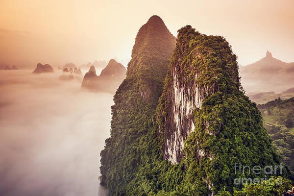 Xingping, Guilin, China Karst Mountains Poster