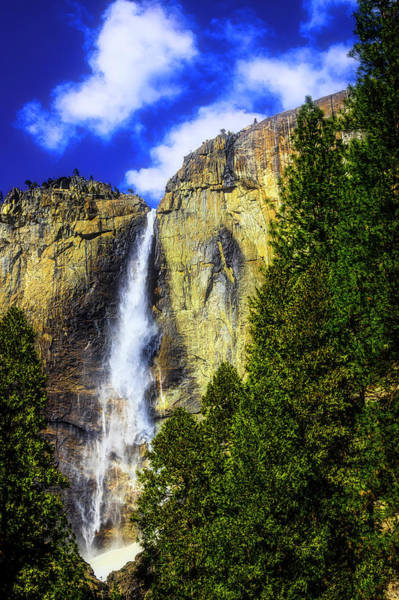 Yosemite Valley Fall In The Clouds Poster