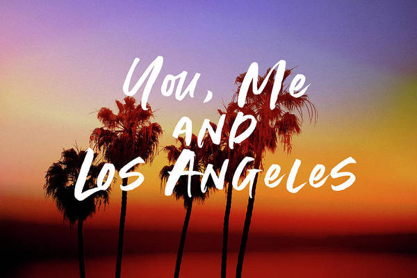 You Me Los Angeles - Art By Linda Woods Poster