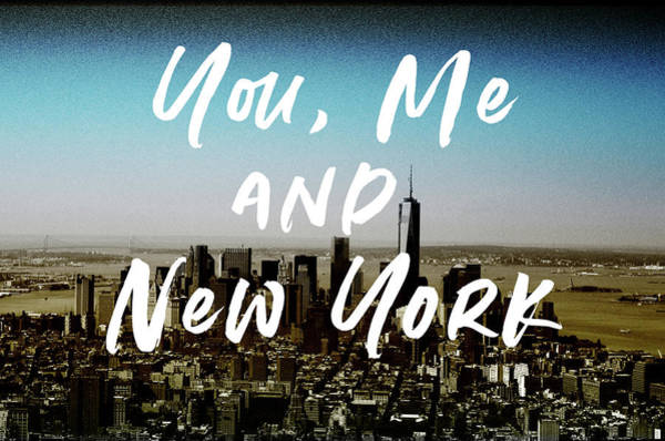 You Me New York Color- Art By Linda Woods Poster