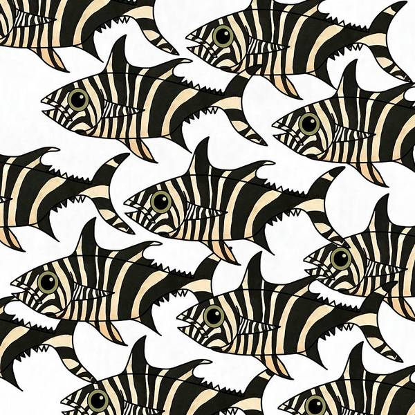 Poster featuring the mixed media Zebra Fish 4 by Joan Stratton