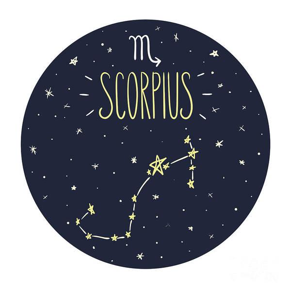 Zodiac Signs Doodle Set - Scorpius Poster