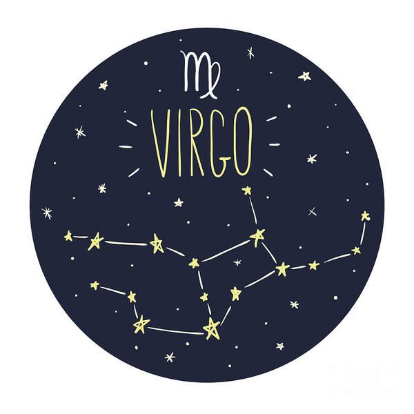 Zodiac Signs Doodle Set - Virgo Poster