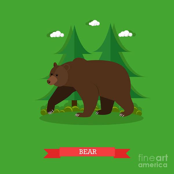 Zoo Concept Banner. Wildlife Bear Poster