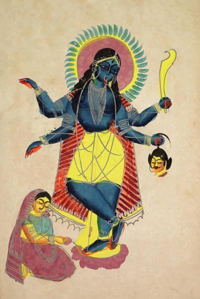 Kalighat Kolkata Calcutta West Bengal India Kali Extra Large Print Canvas Mural