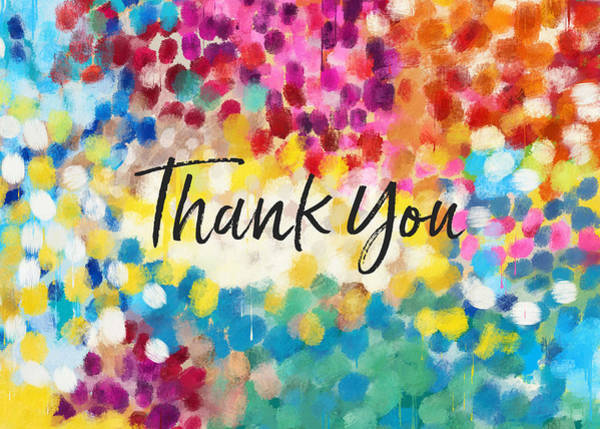 Thank You Cards Wall Art Linda Woods