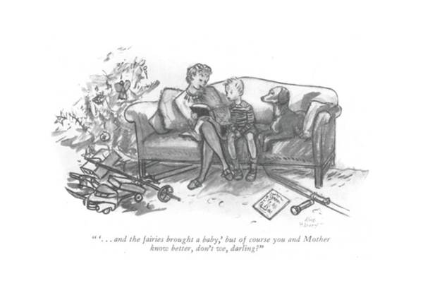 Alice Drawing -  ' . . . And The Fairies Brought A Baby by Alice Harvey