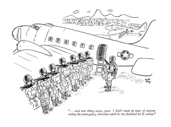 Pilots Drawing - . . . And One Thing More by Robert J. Day