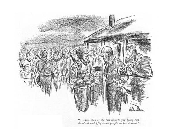 Mess Drawing - . . . And Then At The Last Minute You Bring Two by Alan Dunn