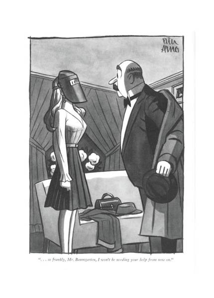 Drawing - . . . So Frankly by Peter Arno
