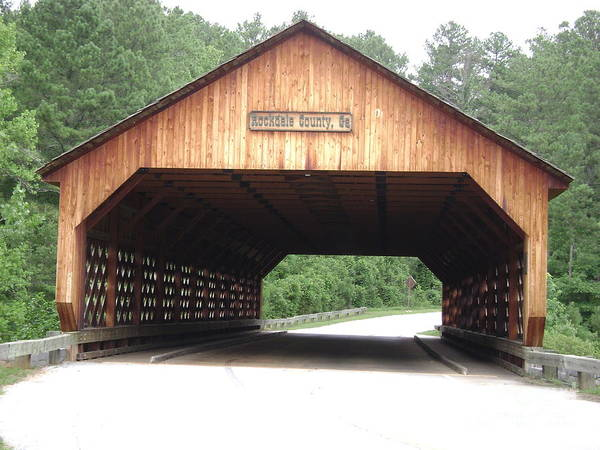 Rockdale County Photograph -       Covered Bridge by R A W M