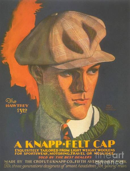 Nineteen-thirties Wall Art - Drawing -  1930s Usa Mens Hats by The Advertising Archives