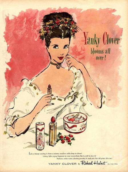 Nineteen-thirties Wall Art - Drawing -  1930s Usa Yanky Clover Make-up Makeup by The Advertising Archives