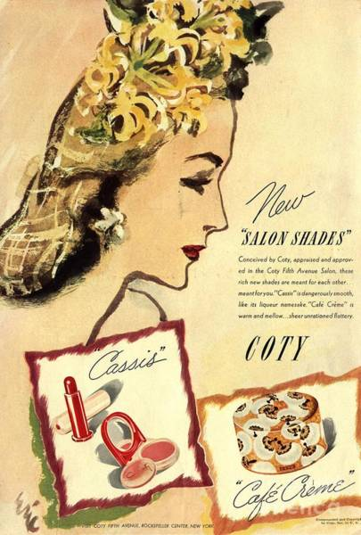 Nineteen-thirties Wall Art - Drawing -  1933 1930s Usa Coty Make-up Makeup by The Advertising Archives