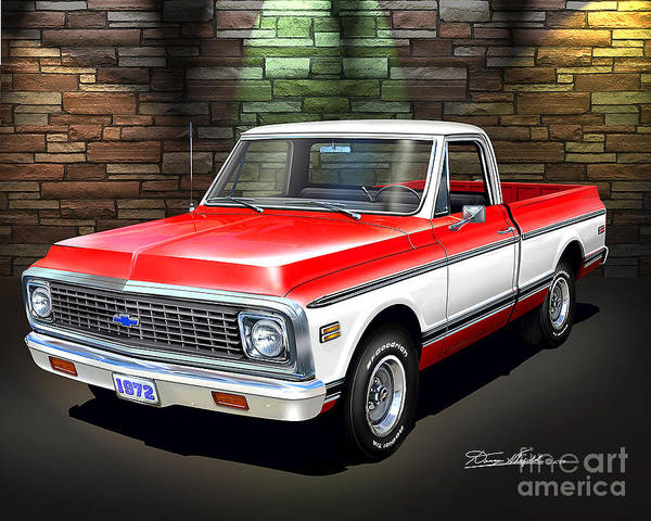 1972 Mixed Media -  1972 Chevrolet Pickup Truck by Danny Whitfield