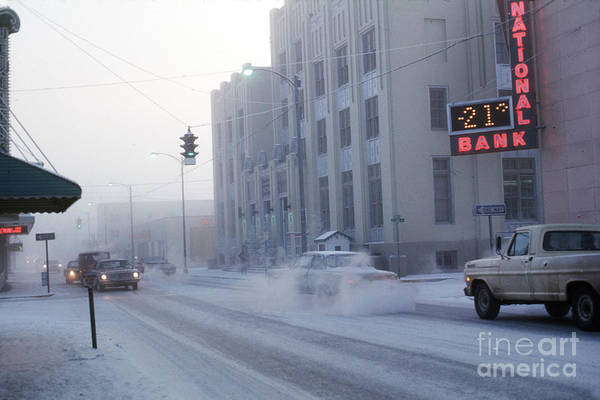 Photograph - -21 Ice Fog Cushman Street Fairbanks Alaska 1969 by California Views Archives Mr Pat Hathaway Archives