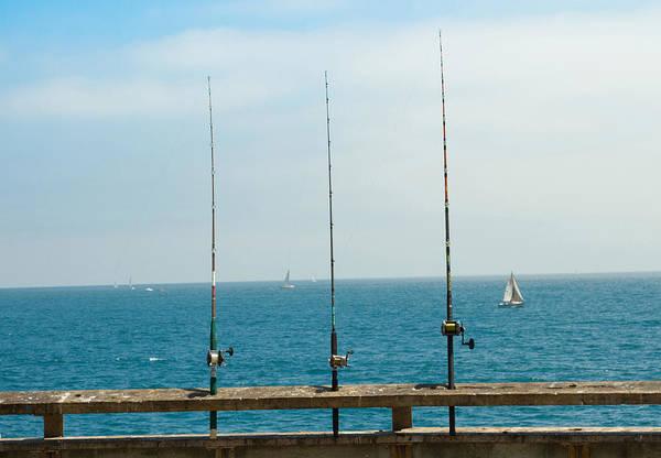 Fishing Pole Digital Art -  3 Fishing Poles by Antonino Escalante