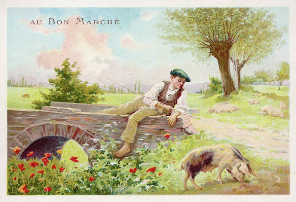 Wall Art - Drawing -  A Boy In A Flat Cap Watches by Mary Evans Picture Library