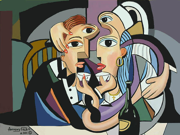 Painting -  A Cubist Wedding by Anthony Falbo