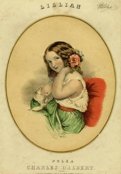 Wall Art - Drawing -  A Demure Young Woman by Mary Evans Picture Library