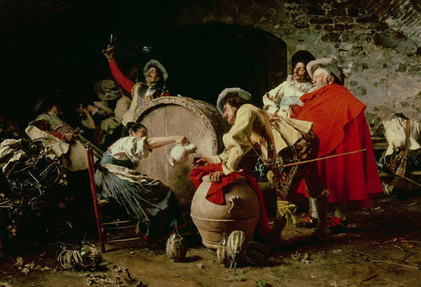 Partying Painting -  A Good Vintage by Francesco  Vinea