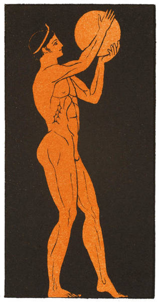A Greek Discus Thrower Art Print by Mary Evans Picture Library
