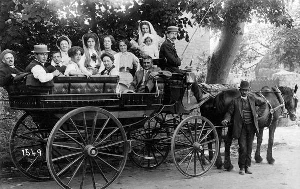 Charabanc Photograph -  A Horse-drawn Charabanc Full by Mary Evans Picture Library