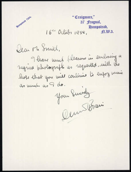 A Letter From Dennis Brain, French by Mary Evans Picture Library