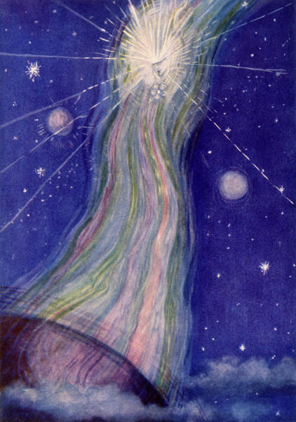 Cosmos Drawing -  A Messenger Of The Cosmos         Date by Mary Evans Picture Library