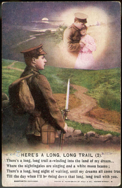 Wall Art - Drawing -  A Soldier, Far Away From Home,  Thinks by Mary Evans Picture Library