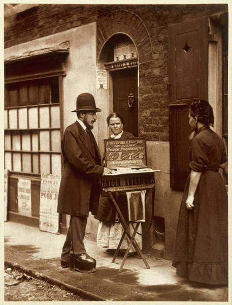 """Wall Art - Photograph -  A Street """"doctor"""" Attempts by Mary Evans Picture Library"""