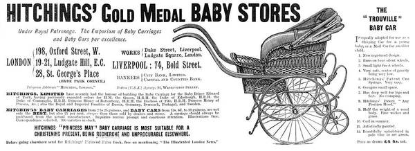 Wall Art - Drawing -  A Typical Late Victorian Pram,  Known by Mary Evans Picture Library