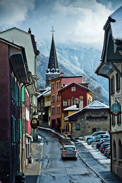 Placard Photograph -  A Winter Day In Montreux, Switzerland by Rob Hammer