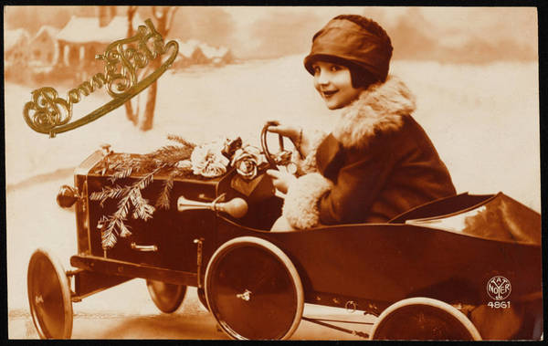 Pedal Car Wall Art - Photograph -  A Young Lady Driver         Date 1927 by Mary Evans Picture Library