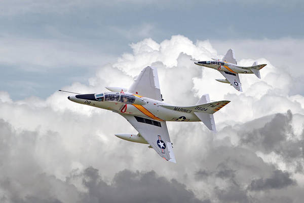 Bomber Aircraft Photograph -  A4 - Skyhawks by Pat Speirs