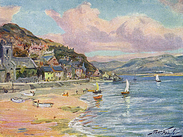 Wales Drawing -  Aberdovey  Beach And Bay        Date by Mary Evans Picture Library