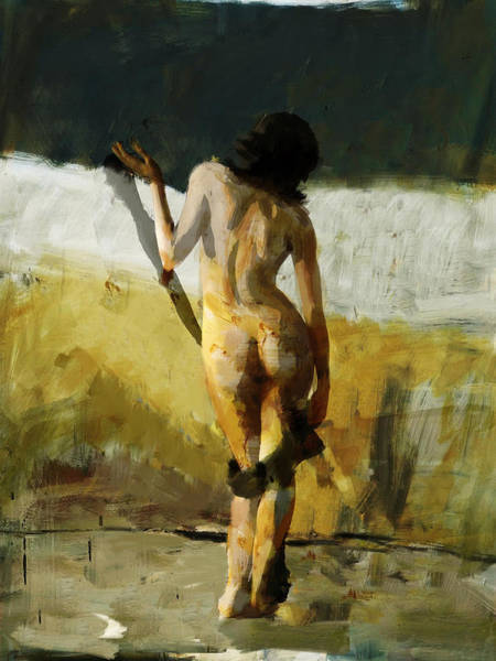 Shah Painting -  Abstract Nude 7 by Mahnoor Shah