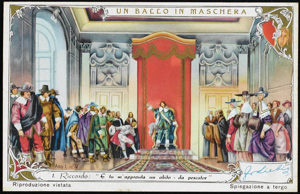 Liebig Wall Art - Drawing -  Act 1 Scene 5  Riccardo,  Governor by Mary Evans Picture Library