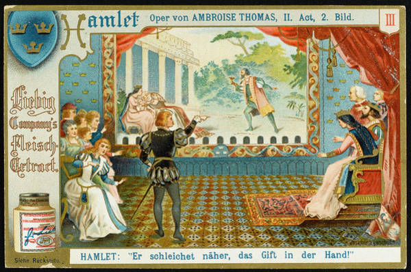 Liebig Wall Art - Drawing -  Act 2  Hamlet's Choice Of  Evening by Mary Evans Picture Library