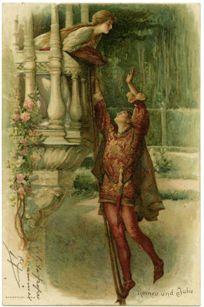 Romeo And Juliet Wall Art - Drawing -  Act II, Scene II The Famous Balcony by Mary Evans Picture Library