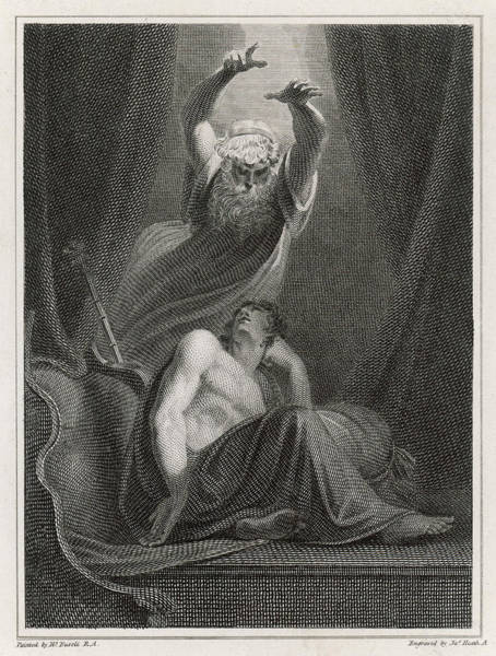 Wall Art - Drawing -  Agamemnon Is Deluded By A  Vision by Mary Evans Picture Library