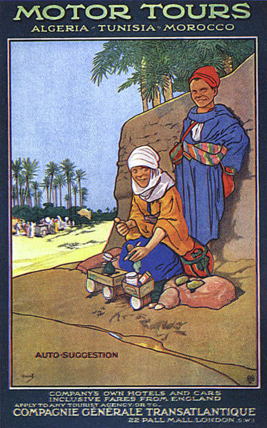 1924 Drawing -  Algeria, Tunisia And Morocco -  Motor by Mary Evans Picture Library