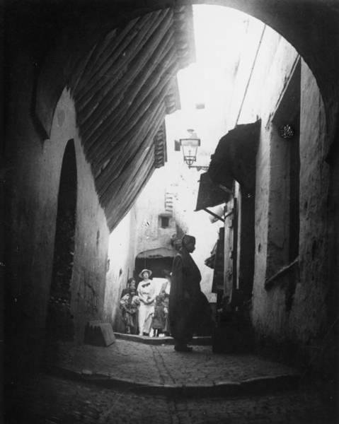Casbah Photograph -  Algiers  A Street In The Casbah by Mary Evans Picture Library