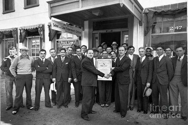 Photograph -  American Federation Of Labor A F L  Union Monterey California 1939 by California Views Archives Mr Pat Hathaway Archives
