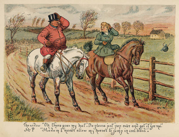 Risk Drawing -  An Attractive Widow Asks  Mr Popple by Mary Evans Picture Library