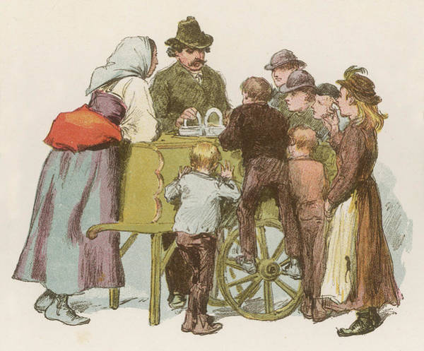 Italian Immigrants Wall Art - Drawing -  An Italian Ice Cream Seller  Draws by Mary Evans Picture Library