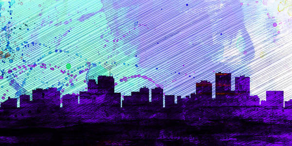 Wall Art - Painting -  Anchorage City Skyline by Naxart Studio