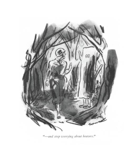 Disguise Drawing -  - And Stop Worrying About Beavers by Leonard Dove