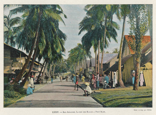 Wall Art - Photograph -  Andaman Islands  Bazaar Street, Port by Mary Evans Picture Library
